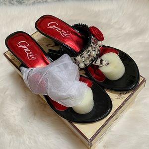 Grazie Giada zebra embellished sandals
